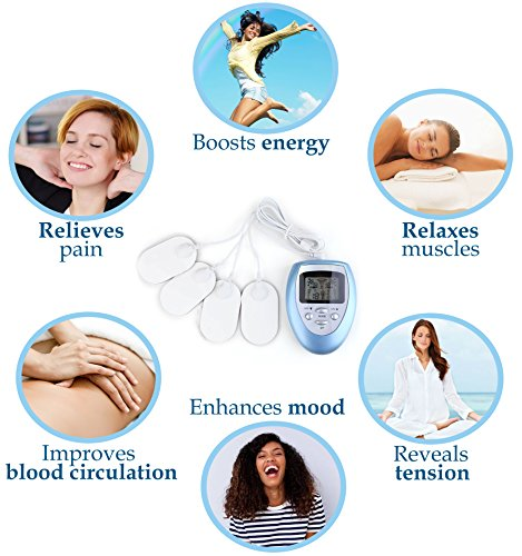 Relieve Stress and Burn Fat with Full Body Pulse Massager Electromagnetic Complex Muscle Stimulator Portable Deep Kneading Wireless Mini Tool + European Calming Aroma Spray for Healthy Sleep + E-Book by ANYURE (Image #1)