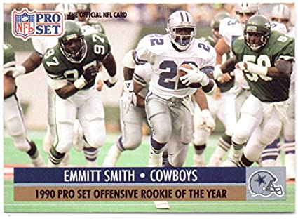 Emmitt Smith 1991 Pro Set Offensive Rookie Of The Year 1 Dallas