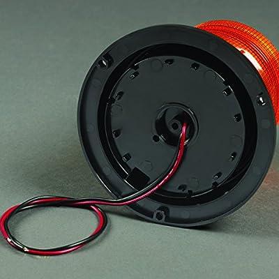 Federal Signal 211680-02 Pulsator 451 Plus Amber Low-Profile Strobe Beacon (8-Joule, Double Flash, Permanent Mount): Automotive