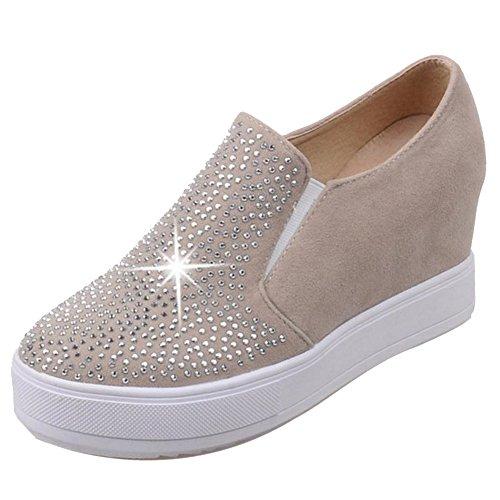 Beige Chaussures Mode Augmentation Femmes RAZAMAZA wqfBFF