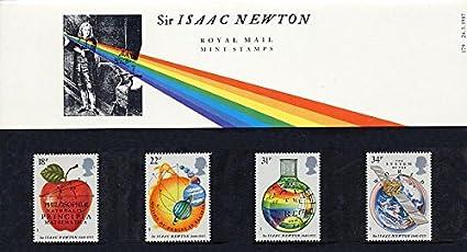 1987 lsaac Newton sellos correo real presentación Pack: Amazon.es: Oficina y papelería