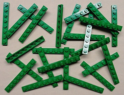 1x8 Lego (DEAL OF THE DAY!!! DO NOT MISS OUT!x25 NEW Lego Green Baseplates 1x8 Brick Building Plates)