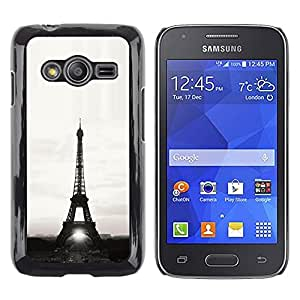 Exotic-Star ( Architecture Eiffel Tower Sun B&W ) Fundas Cover Cubre Hard Case Cover para Samsung Galaxy Ace4 / Galaxy Ace 4 LTE / SM-G313F