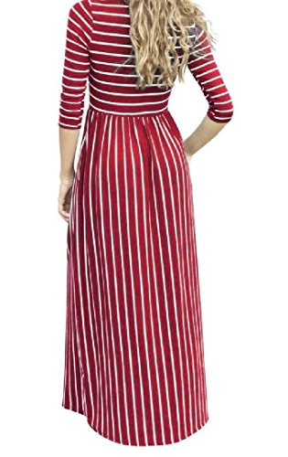 Dress Women Evening Stripe Hem Coolred Big Wine Party Red Fairy Stylish Sexy zwgqqnWTf