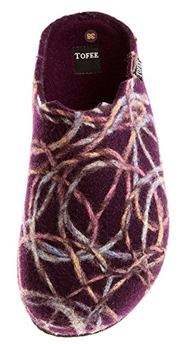 Sabots Chaussons Multicolore Naturfilz Tofee Mule Violet Femmes xZw6zI