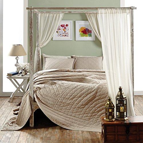 "Inn Style Charlotte Quilt & Accessories (Queen Bed Skirt 60""x80""x16"")"