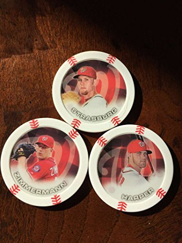 2014 Topps Chipz Washington Nationals Team Set 3 Poker Chips Bryce Harper