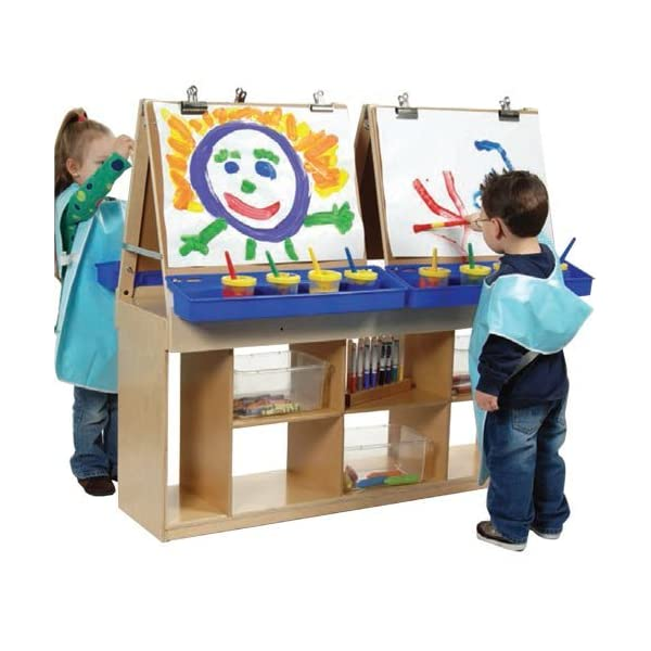 Constructive-Playthings-KWC-7950-Classroom-Double-Sided-EaselArt-Storage