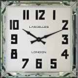 Roger Lascelles Manhattan Mirror Framed Wall Clock, 23.6-Inch For Sale