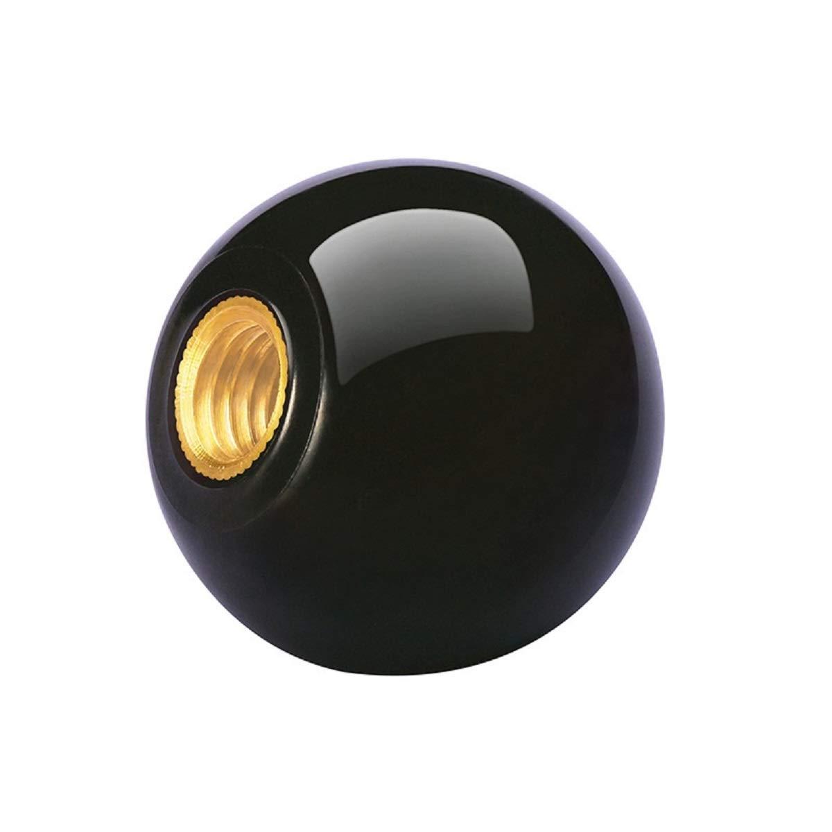 M8x30 Bakelite Ball Knob Ball Handle with M5 M6 M8 M10 M12 M16 Female Thread Brass Insert 1pcs