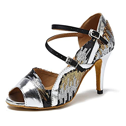 3ea29d2202d cheap Minishion Women s Sequin Stiletto Heel Synthetic Latin Ballroom Tango  Salsa Dance Shoes Wedding Party Prom