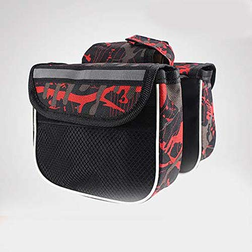 Dart3089 Top Tube Bike Bag Cycling Double Side Pouch Bike Frame Pannier Bag Top Tube Saddle Bag ()