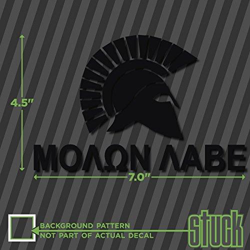 """Molon Labe Spartan - 7"""" x 4.5"""" - vinyl decal sticker self adhesive come and take"""