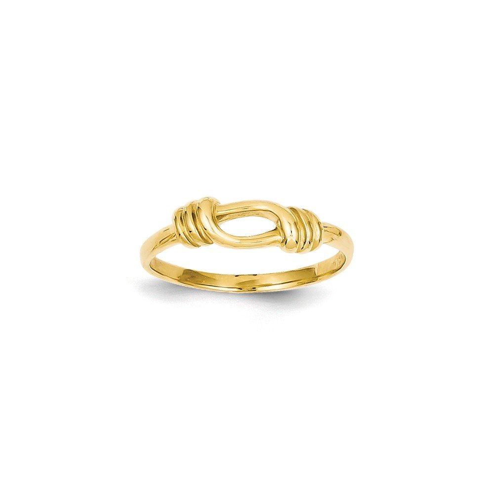 14k Yellow Gold Love Knot Band Size 7