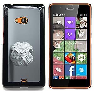 White Abstract Cube Caja protectora de pl??stico duro Dise?¡Àado King Case For Microsoft Nokia Lumia 540 N540