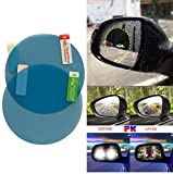 Quaanti 2PCS Rainproof Car Rearview Mirror Waterproof Anti Fog Rain Proof Coating PET Film Covers rain Blades Sticker 2018 (B/8cm)