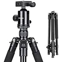 Heoysn Camera Tripod, 65 Inch Lightweight Portable Aluminium Alloy Professional Travel Tripod with Carry Bag for SLR DSLR Camcorder Camera Video