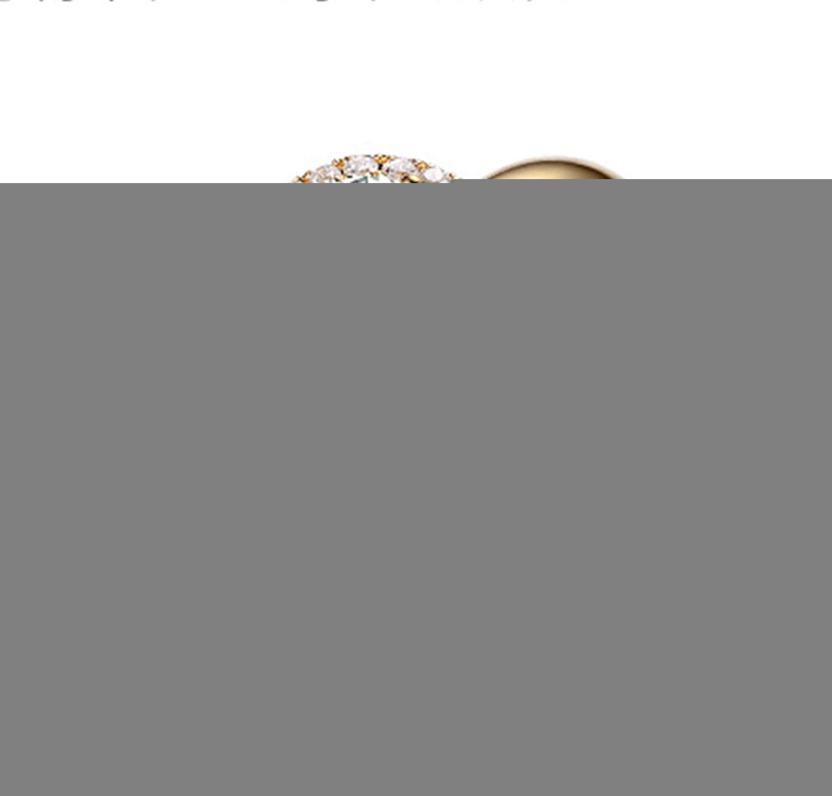 Gnzoe Rose Gold Women Wedding Rings Solitaire Promise Rings Crown Flowers Yellow with White Blue 0.3ct Diamond Size 6.5 by Gnzoe