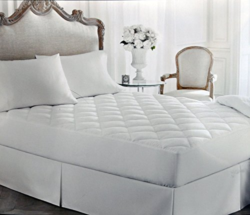 Lauren Ralph Lauren Bronze Comfort Down Alternative Luxloft Mattress Pad Full / Matrimonial White