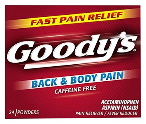 Goody's Back and Body Pain Relief Powders - Acetaminophen & Aspirin Quickly Relieve Pain Due to Headaches, Body Aches, and Fever - Caffeine Free - 24 (Back Powder)