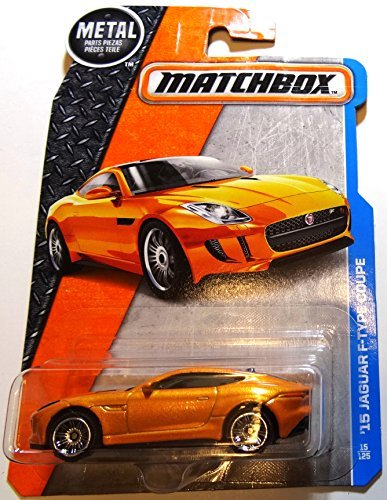 Jaguar E-type Coupe - Matchbox 2016 MBX Adventure City '15 Jaguar F-Type Coupe 15/125, Orange
