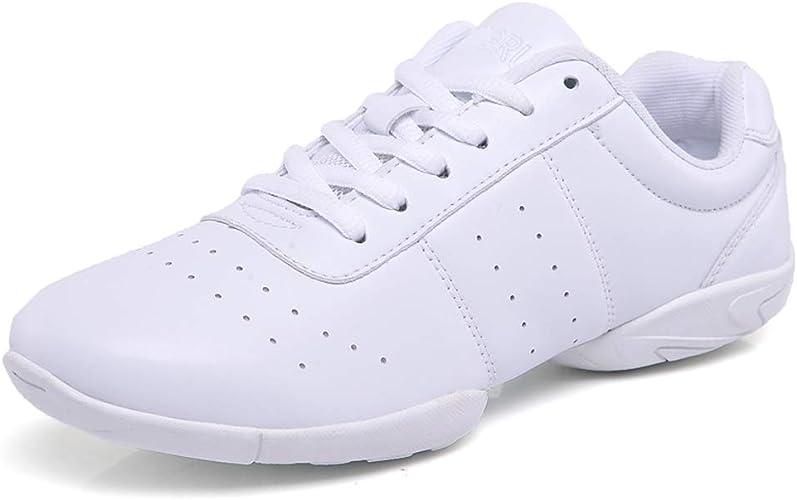 Lnafan Women/'s Girls/' Lace-Up Gym Sport Aerobics Cheerleading Training Dance Shoes