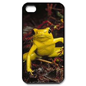 QSWHXN Customized Print Frog Pattern Back Case for iPhone 4/4S