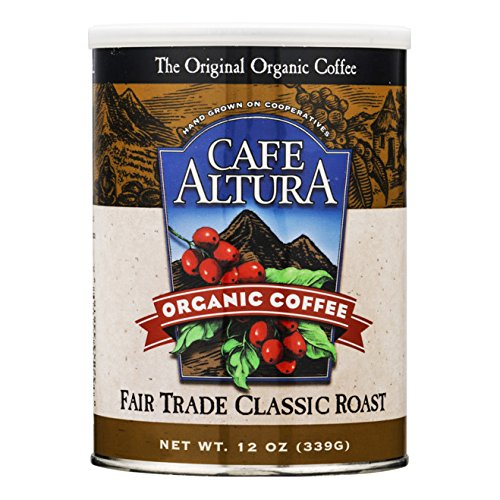 Cafe Altura Organic Coffee, Fair Trade Classic Roast, Ground Coffee, 12 Ounce Can (Trade Fair Roast Classic)