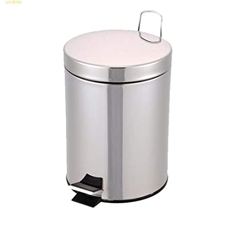 LSHWHT Cubos de Reciclaje Cubo de Basura de Acero Inoxidable ...