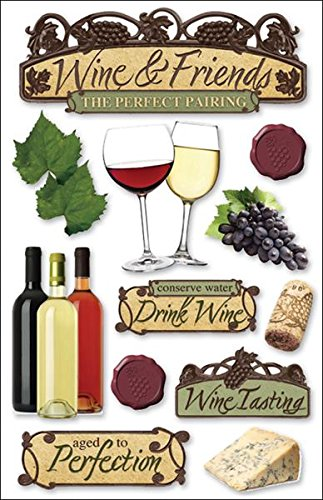 - Paper House STDM-0039E 3D Cardstock Stickers, Wine