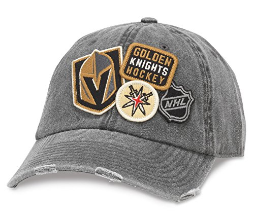 (American Needle Vegas Golden Knights Iconic Distressed Adjustable Hat)