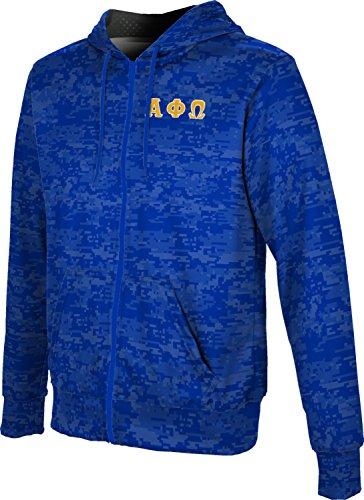 - Alpha Phi Omega Men's Zipper Hoodie, School Spirit Sweatshirt (Digital) 2DF24