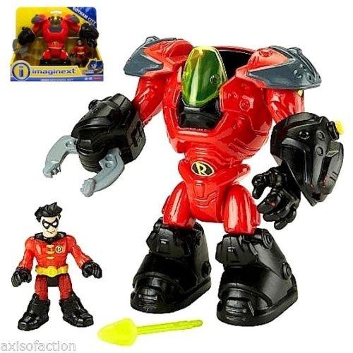Fisher Price Imaginext DC Gotham City Robin & Mechanical Suit NIP