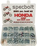 250pc Specbolt Honda CRF150 CRF250 CRF250 Bolt Kit Maintenance & Restoration of MX Dirtbike OEM Spec Fasteners CRF 150 250 450