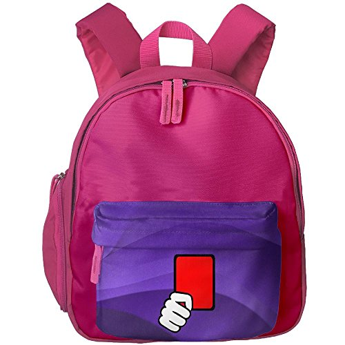 [Unisex Baby Kid Red Card Referee Pre School Schoolbag Shoulder Bags Pink] (Cute Referee Costumes)
