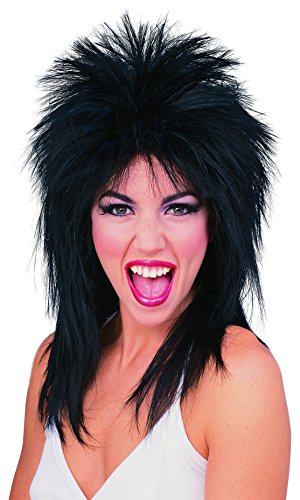 [Rubie's Costume Spiked Rocker Wig, Black, One Size] (Tina Turner Wig)