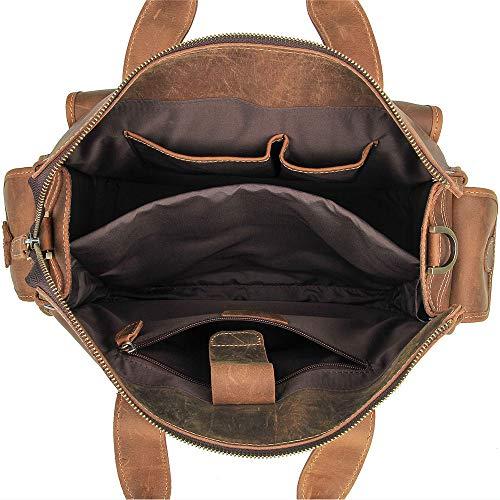 Ktyxgkl mannen Vintage tas 34 vrouwen voor X 16 29 lederen bruin cm 5 werkmap en CwTqdrCIx