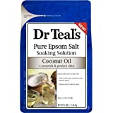 Dr Teals Coconut Oil Pure Espom Salt Soaking Solution 3 lbs.(Pack of 3)