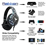 RAIKKEN Stereo Gaming Headset Xbox One, PS4, PC