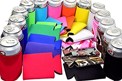 Multi Color Blank Can Coolers Sleeves ,Coolies For Cans,Beer,Soft Drink,Economy Bulk,Collapsible Insulator,Perfect for BBQ,Weddings,Parties