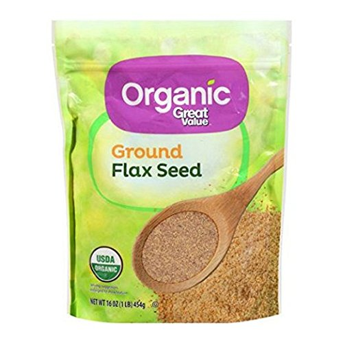Great Value Organic Ground Flax Seed, 16 Oz. (Pack of 2) by Great Value Organic (Image #1)