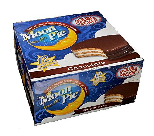 Chocolate Double Decker Moon Pies - 12/Box