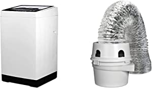 BLACK+DECKER BPWM16W Portable Washer, White & Dundas Jafine TDIDVKZW Indoor Dryer Vent Kit with 4-Inch by 5-Foot Proflex Duct, 4 Inch, White