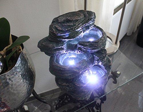 54 99 springbrunnen niagara mit led beleuchtung inoutdoor zimmerbrunnen gartenbrunnen. Black Bedroom Furniture Sets. Home Design Ideas