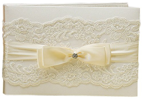 Beverly Clark French Lace Guest Book, Ivory by Beverly Clark for Weddingstar