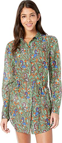 - Tory Burch Swimwear Women's Brigitte Printed Beach Tunic Cover-Up Something Wild All Over Large