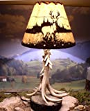 Antler Lamps with Deer Shade