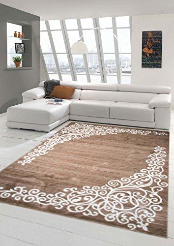Traum Tappeto moderno design Tappeto orientale con Glitzergarn tappeto da  salotto con motivo floreale a Heather Marrone Beige Crema Größe 160x220 cm