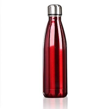 OUTAD Botella Térmica en Acero Inoxidable Forma de Bolos/Bowling
