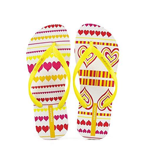 Plage Clip Slip coloré Toe de Femmes Flops Fuxitoggo Rouge Modèle Chaussures Jaune Flip on Taille 40 EU BwqISIHv